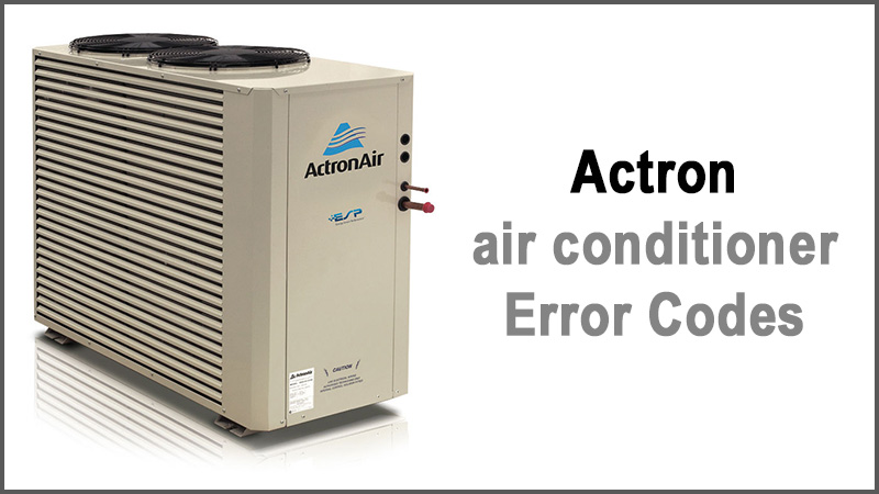 Actron air conditioner Error Codes