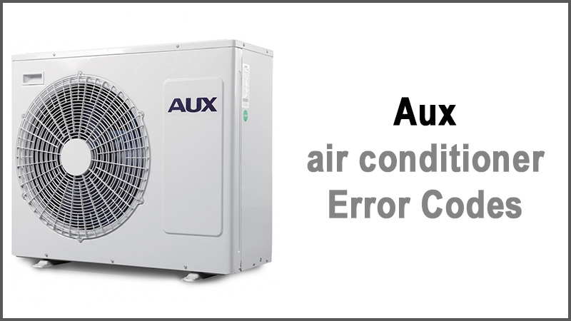 Aux air conditioner Error Codes