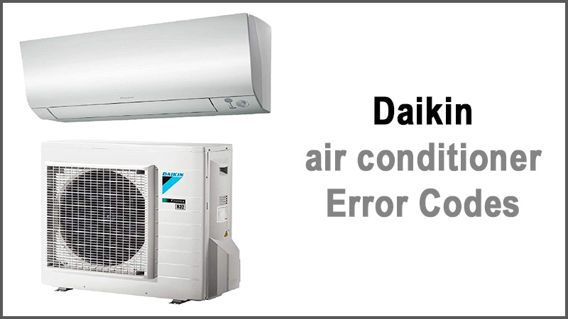 Daikin air conditioner error codes