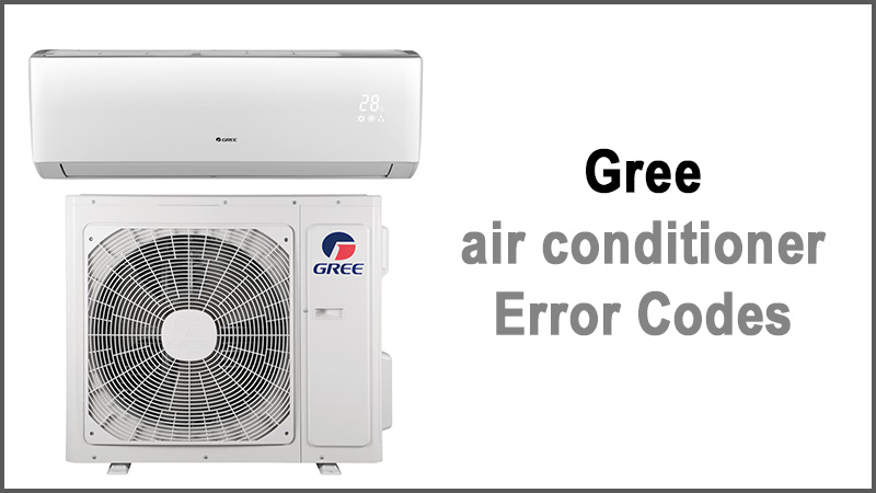 Gree air conditioner Error Codes