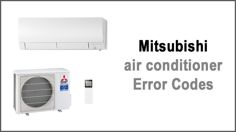 Mitsubishi air conditioner error codes