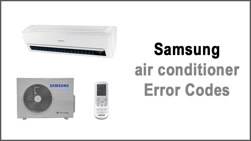 Samsung air conditioner error codes