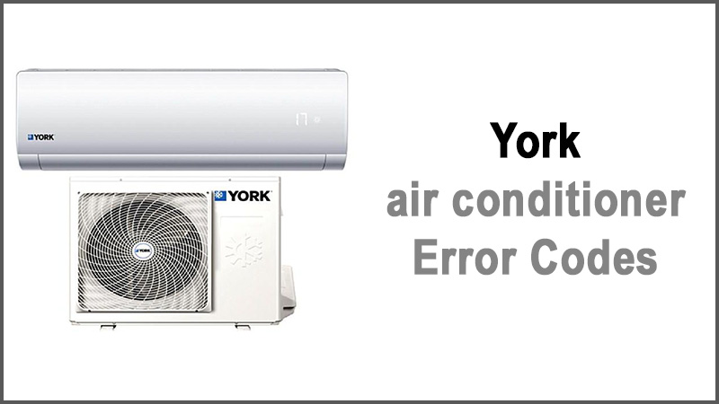 York air conditioner error codes