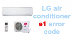 LG air conditioner e1 error code