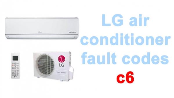 LG air conditioner fault codes c6