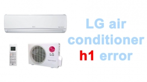 LG air conditioner h1 error